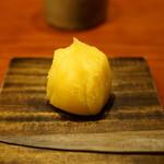 御料理 光安 - 安納芋の茶巾