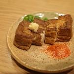 一風堂スタンド - 2016.11 豆藤さんの厚揚げ