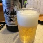 力丸 - OFFの日なら当然の昼ビール、寿司屋でアルコール無しは考えられません