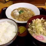 新生庵 - 料理写真:かつ煮セット  たぬきそば  754円