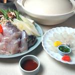 駿河居酒屋 福助 - ふぐサービスセット一人前¥425011月から12月まで 2人前から 冬季のみ