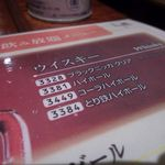 とり鉄 - 飲みホメニュー1