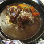 西洋料理箱 魯風人 - ほほ肉の塊が・・ドン!