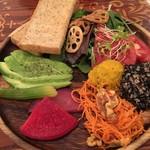 59113849 - 7種の野菜のオープンサンド(1080円)