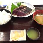道の駅 なぶら土佐佐賀 - 塩タタキ定食 10切れ 1200円
