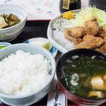 キッチン食堂 城山 - カキフライ定食:950円/2016年11月