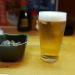 津和野 - 料理写真:サービスの駆けつけビールは無料!