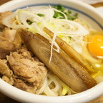 こくわがた - ⑪気まぐれこくわちゃん・鶏天HG鶏ごぼうしょうゆ玉子うどん(730円)(2014/2)