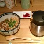 こめらく ニッポンのお茶漬け日和。 - [料理] 佃煮とかつお節のお茶漬け¥430 セット全景♪w