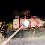 再度山荘 - デザートの焼きマシュマロ