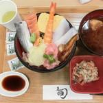 魚魚鮮 - 料理写真:2016' 7月 「得々海鮮丼」780円込