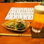 福島 桜屋 - 生ビール & 付き出し