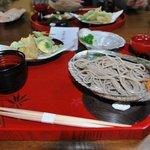 龍泉寺 - 料理写真:ざるそばと天ぷら