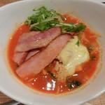 59132673 - トマト麺750円+チーズ・ベーコントッピング
