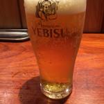 59134779 - エビス生ビールで乾杯なのだ!