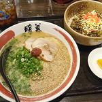日替わりランチセット(ネギごまラーメン+チャーシュー高菜丼)