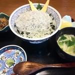 お食事処 大原 - シラス丼 1150円(税込)