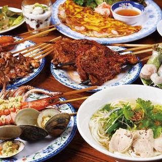 ベトナム料理が存分に味わえるお得なコースは2,200円~!