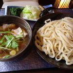 竹國 - 肉汁うどん・中盛(600円)_2010-11-30