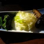 竹國 - 野菜3種盛り合わせ(150円)_2010-11-30