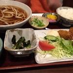 香流庵 - カキフライ定食うどん