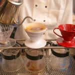 ブック シェルフ カフェ - 料理・ドリンク:挽きたての堀口コーヒー