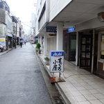 まぐろ小屋 - 写真奥方向が近鉄奈良駅