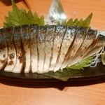 魚民 - 【2016.11.22(火)】長崎県産炙り〆鯖のお造り