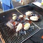 大原漁港 港の朝市 - 海鮮BBQ!