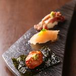 ●鶏寿司の盛り合わせ