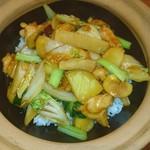 ゴールデン タイガー - 鶏肉とさつま芋と栗の 土鍋ご飯♥(*≧∀≦*)