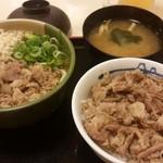 松屋 - 肉カレーうどんミニ牛めしセット620円