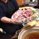 釜めしお可免 - 鮟鱇鍋の材料