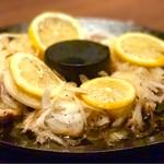 和民 - レモンステーキ テーブルに提供された時にソースをかけてもらいます。