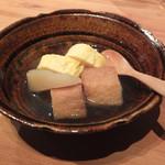 eat - 栃尾揚げ、聖護院大根、出汁巻