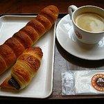 サンマルクカフェ - やみつきドッグ、チョコクロ、ドリンクのセット