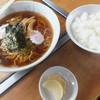 磐梯食堂 - 料理写真:ラーメン400円+ライス小150円