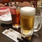 とり天発祥の店 レストラン東洋軒 - ビールで乾杯!