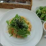 スーホルム - 本日のパスタランチ、水菜と明太子のクリームパスタ