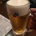地魚屋台とっつぁん - 生ビール201610