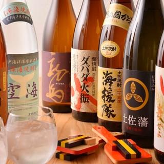 高知の焼酎や日本酒を取り揃えております