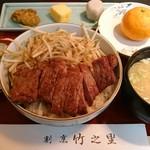 竹之里 - 牛ステーキ丼。