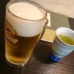 竹之里 - 生ビール。