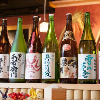 日本酒を豊富にご用意!様々な種類ご堪能頂けます◎