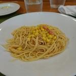 トラットリア・サルーテ - たらことコーンのスパゲッティ