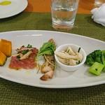 トラットリア・サルーテ - 前菜の盛り合わせ