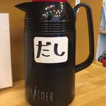 ヤキトンヤリキ - カウンターの出汁ポット