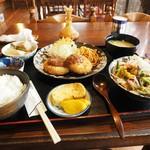 59188434 - コロッケ定食+ちゃんぽん(小盛)