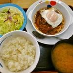 松屋 生田店 - ブラウンソースエッグハンバーグ定食