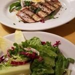 59192014 - 鮮魚のグリル、サラダ